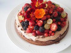 lækker brownie opskrift med friske bær
