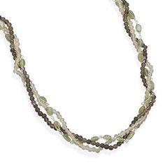 """16"""" + 2"""" Multistrand Multistone Necklace"""