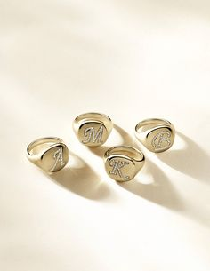 David Yurman Monogram Signet Rings