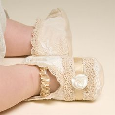 Newborn Girl Booties - Louisa Christening/Baptism Collection - Adorable Gowns & Booties