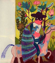 Alison Rutsch: A bandit, sketchbook painting