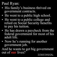 I understand conservative values, although I don't agree with them, I can respect them.  Ryan doesn't even understand them.