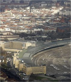 Berlin Tempelhof Airport ~ Ernst Sagebiel (1941) ~ When completed, it was known as the largest building in the world.
