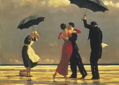 Jack Vetriano..... My favorite paint  Why?   Because the artist tries to capture the romance of another time   An elegant couple dancing in the rain.... Careless