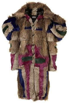 Exaggerated Shoulder Faux Fur Coat By KTZ** - New In This Week - New In - Topshop - StyleSays