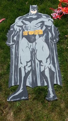 Batman wooden cutout in Ithas2gos Garage Sale in Fort Wayne , IN for $25. This batman wooden cutout originated from the same place the Spiderman cutout did.