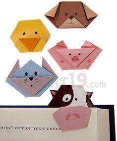 animales en origami magneticos, para marcar el libro