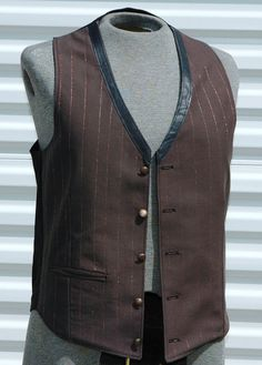Alchemist Steampunk Mens Vest Leather and Copper by OLearStudios, $67.00