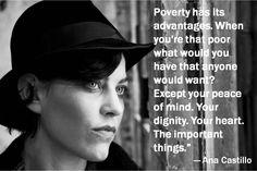 Dignity. Heart. Peace of Mind.  Ana Castillo.