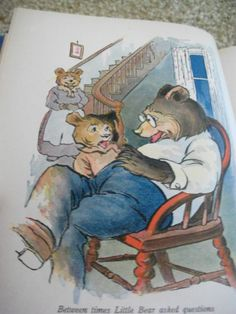 """Illustration from the book """"When Little Bear Bragged"""" published 1920"""