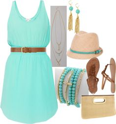 """Untitled #201"" by yjmunson on Polyvore loving this color this summer!"