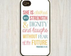 Christian, Inspirational, Strength Bible Verse case available in iPhone 4/4s 5/5s 5c and Galaxy s4, designed and created by CellShells. Cellphone accessories, Cellphone cases