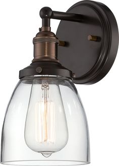 Nuvo Lighting Vintage 1 Light Wall Sconce in Rustic Bronze 60/5514