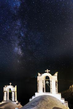 Milky Way over Santorini