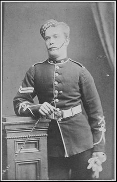 Corporal C Miller of the 99th Lanarkshire Regiment c1872
