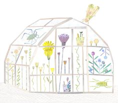 The Cool Greenhouse - Lianne Harrison Illustration