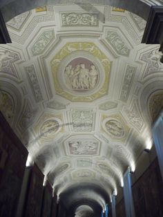 Although this ceiling inside the Vatican Museums looks like Bas-relief, it is actually painted.