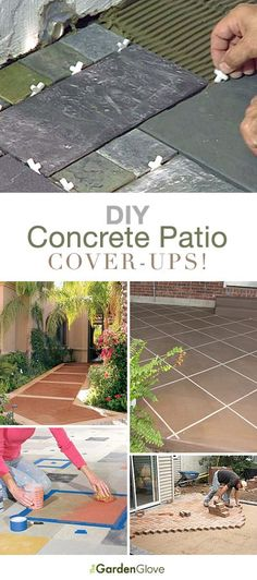 i would like to cover the ugly concrete patio with stone or tile ... - Ideas To Cover Concrete Patio