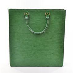 Louis Vuitton Vintage Green Epi Sac Plat Bag