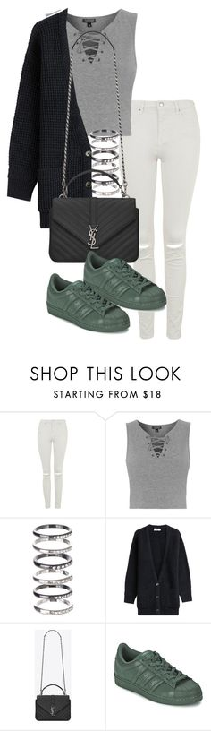 """""""Unbenannt #1194"""" by tyra482 ❤ liked on Polyvore featuring moda, Topshop, M.N.G, Closed, Yves Saint Laurent, adidas, women's clothing, women, female y woman"""