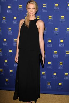 New mom Charlize Theron and Chelsea Handler at Human Rights Campaign gala
