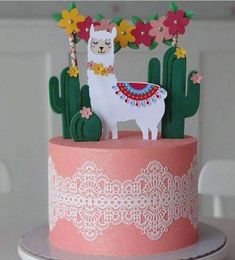 Birthday party dcoration pastel ideas for 2019 Colorful Birthday Party, 13th Birthday Parties, Birthday Party Decorations, Fiesta Cake, Fiesta Party, Llama Birthday, Girl Birthday, Cake Birthday, Birthday Ideas