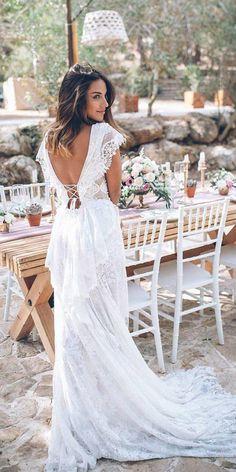 21 fascinating open back wedding dresses boho wedding dresse Wedding Dress Trends, Boho Wedding Dress, Wedding Dresses, Prom Dresses, Wedding Dress Low Back, Long Sleeve Wedding, Beach Wedding Guests, Wedding Bride, Wedding Shoes