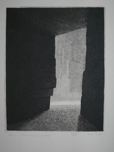 00.Heyn, Les Baux, XXIII, aquatinte, 1979