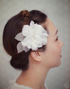 Wedding Hair Flower Ivory Bridal Hair Flower by wishpiece