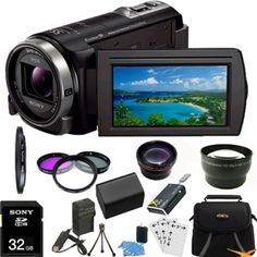 Hot New Release! Sony HDR-CX430V HDR-CX430 CX430 HD Handycam Camcorder ULTIMATE Bundle with 32GB Card, Spare Battery, External Rapid Charger, Lens Step-Up Ring, Pro 2X Telephoto Lens Converter, Pro .43x Wide Angle Lens, Card Reader, Case, Mini Tripod and Much More! - Special occasions with friends and family are just as touching the second time around when captured in gorgeous 1920 x 1080 Full HD quality with this Sony Handycam HDR-CX430V/B camcorder. Shoot 24p or 60p HD videos to relive the…