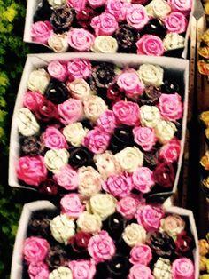 Chocolade rozen van wax voor Moederdag ❤️