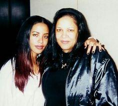 Aaliyah and mom Diane Haughton