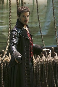 "The Jolly Roger -Colin O'Donnoghue as Captain Hook from the TV Show ""Once Upon A Time""."