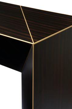 Hervé Langlais Vertigo Console Table from the Shifting Reflections Collection For Sale at Geometric Furniture, Metal Furniture, New Furniture, Table Furniture, Luxury Furniture, Furniture Design, Consoles, Vertigo, Condo Living Room