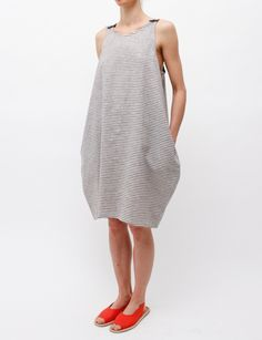 United Bamboo Striped Cocoon Dress. Great for hot summer days