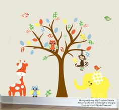 Childrens wall decal gender neutral wall sticker - 0199