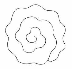 Moldes para Flor de Papel  É só pegar os moldes para criar em sua casa também, sem nenhuma dificuldade. São flores de papel lindas para decorar chás de bebê, casamentos, aniversários, eventos corporativos, entre outras festas especiais.  Molde de Flor de Papel 1