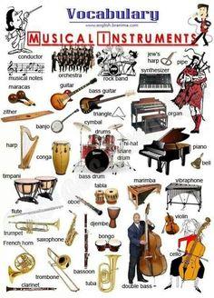 Musical instruments #Aprender #inglés #vocabulario