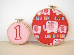 Embroidery Hoop Wall Art Nursery Party Home by AthenaandEugenia, $25.00