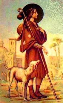 Roman Catholic Saints | Saint Roch  patron saint of dogs