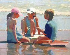 """Sister Talk"" by James Richards 24x30"
