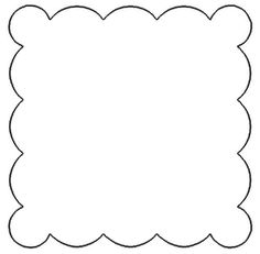 Free Scallop Patterns for Scrapbooking - Scalloped Square Eyes, Woman, Men