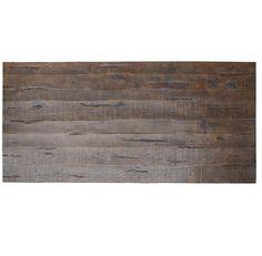 "Weathered Umber Reclaimed Oak Wood Pedestal Dining Table 110"""