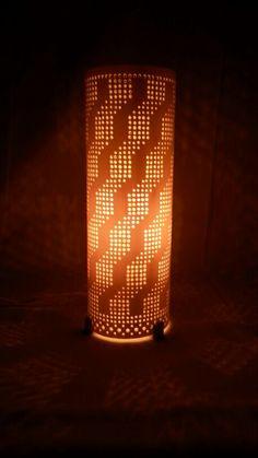 Luminária em PVC de Mesa