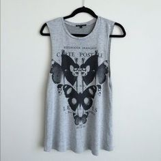 Truly Madly Deeply Tops - Truly Madly Deeply gray and black long muscle tank