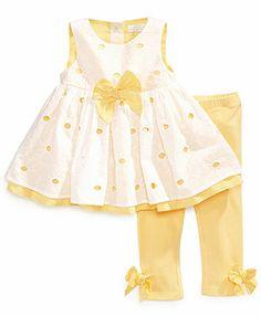 First Impressions Baby Girls' 2-Piece Eyelet Tunic & Leggings Set