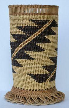 Native American Indian Basket Vase HUPA Area Circa 1930'S | eBay