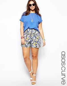 ASOS CURVE Exclusive Woven Culotte In Garden Floral Print love this look