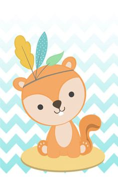 Woodland Theme, Forest Friends, Kawaii Drawings, Baby Prints, Baby Cards, Baby Room, Hello Kitty, Cute Animals, Animation