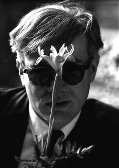 Andy Warhol photographed by Dennis Hopper, 1963.